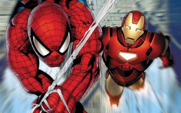 spiderman iron man comic book